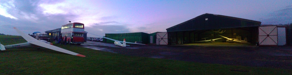Washing aircraft and vehicles down at the end of a good day!