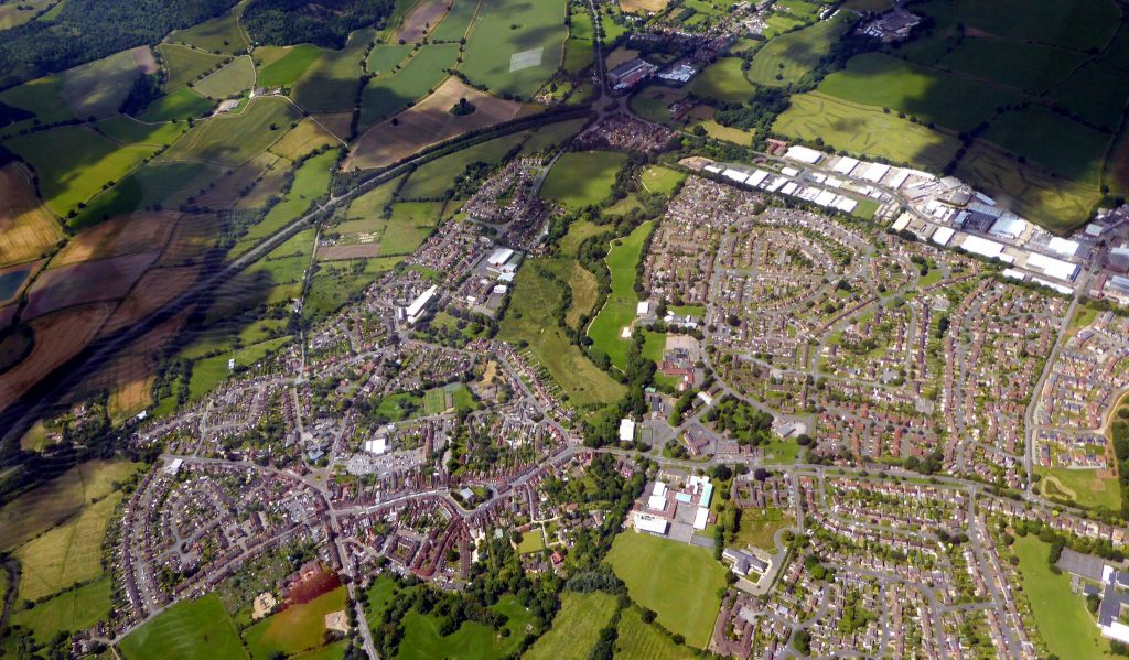 Alcester from above.