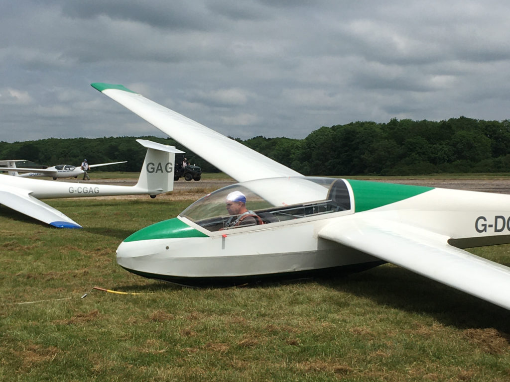 Richard flies solo in K13 G-DCBW